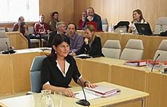 Gabi Burgstaller im Untersuchungsausschuss des Landtages