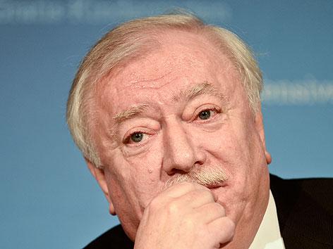Bürgermeister Michael Häupl am Dienstag, 12. März 2013, anl. der Bekanntgabe des vorläufigen Ergebnisses der Wiener Volksbefragung