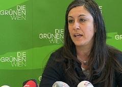 Grüne Vizebürgermeisterin Maria Vassilakou bei Pressekonferenz zur Volksbefragung