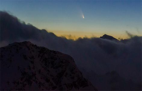 Komet Beobachtung am Gaislachkogel