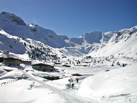 Lager Lizum im Winter