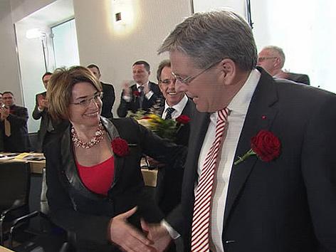 Beate Prettner Peter Kaiser Gratulation