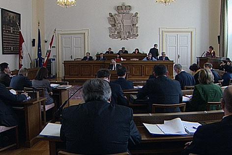 Der Salzburger Landtag bei einer Plenumssitzung