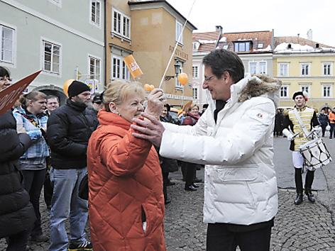 Josef Bucher bei der Wahlabschlussveranstaltung des BZÖ