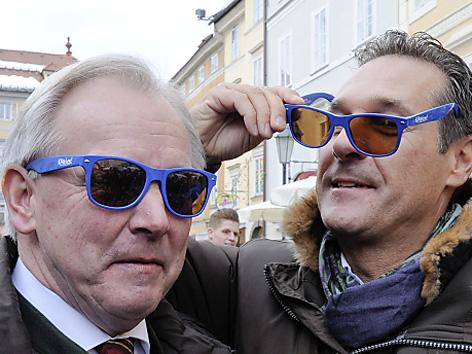 Landeshauptmann Gerhard Dörfler und H.C.Strache