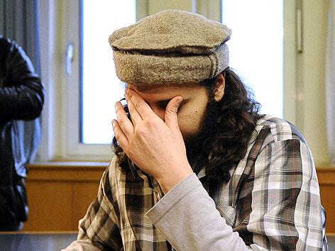 Mohamed M. beim Prozess im Wiener Landesgericht im Februar 2009