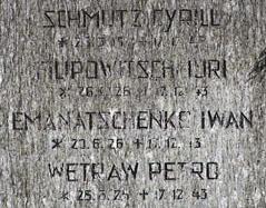 Grabstein am Innsbrucker Militärfriedhof