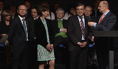ÖVP Wahlkampfauftakt Wilfried Haslauer Ferdinand Wegscheider Wolfgang Schüssel