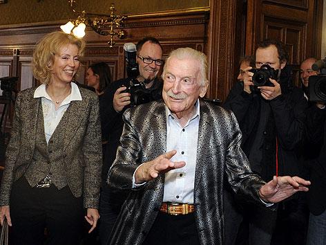 James Last bei der Verleihung des Goldenen Ehrenzeichens für Verdienste um das Land Wien