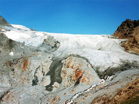 Noch bestehende Gletscherzunge