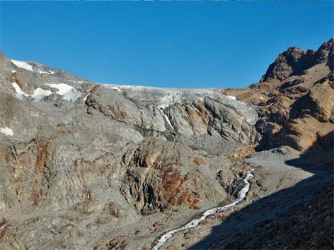 Berg ohne Gletschereis