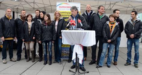Fritz Gurgiser und die Kandidaten zur Landtagswahl 2013