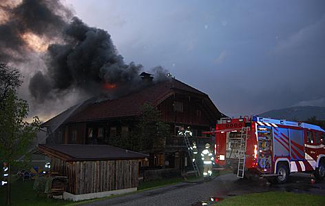 Dachstuhlbrand Abtenau