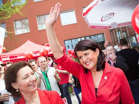 Burgstaller Heinisch-Hosek SPÖ Wahlkampf 1. Mai
