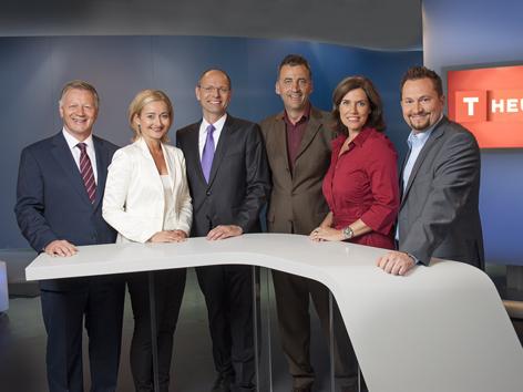 Tirol heute Moderatoren mit Landesdirektor Krieghofer und Chefredakteur Sailer