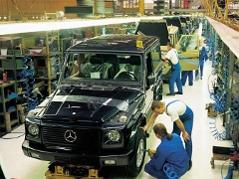 Produktion der Mercedes G-Klasse in Graz