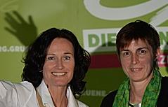 Wahlkampffinale der Grünen Astrid Rössler Eva Glawischnig