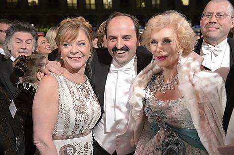Am Opernball 2013 mit Starkoch Johann Lafer und seiner Frau