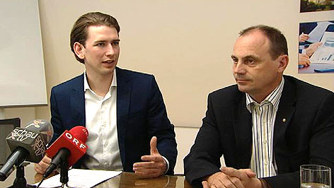 Staatssekretär Sebastian Kurz (ÖVP) und LH-Stv. Franz Steindl (ÖVP)