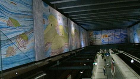U 3 Station gestaltet von Anton Lehmden
