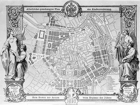 Plan Stadterweiterung, 1860