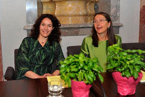 Grüne Regierungsmitglieder Ingrid Felipe und Christine Baur