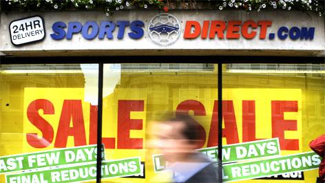 Sportsdirect Auslage