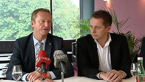FPÖ-Landesparteichef Johann Tschürtz und Alexander Petschnig