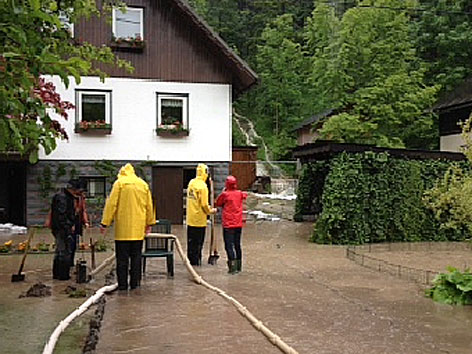 Bad Aussee/Narzissenfest und Hochwasser