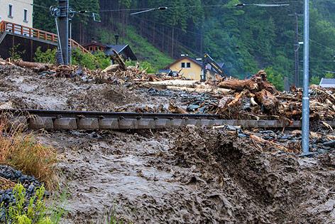 Mure Taxenbach Hochwasser