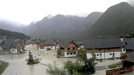 Hochwasser und Überschwemmungen in Obertraun
