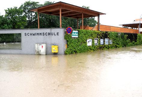 Hochwasser im Wehrgraben