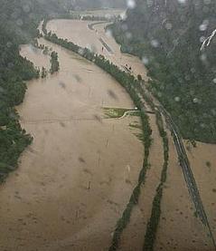 Hochwasser Saalach Saalachtal Weißbach Lofer Saalfelden
