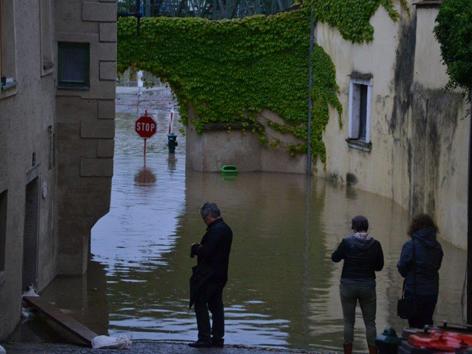Altstadt unter Wasser