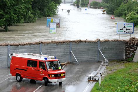 Der Hochwasserschutz in Krems-Stein aufgenommen am Dienstag, 4. Juni 2013.