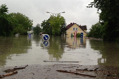 Hochwasser in Schönbühel