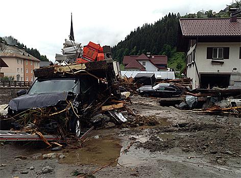 Hochwasser Hüttau Flut Mure