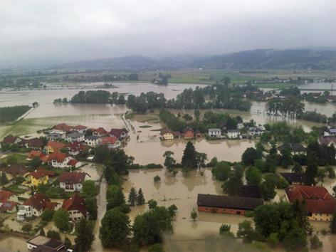 Hochwasser in Walding