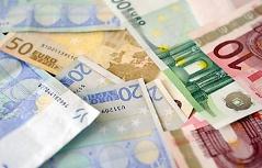 verschiedene Euro-Banknoten