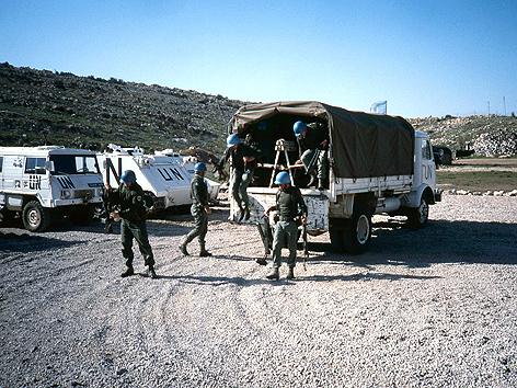 Alte Fotos vom Einsatz auf dem Golan