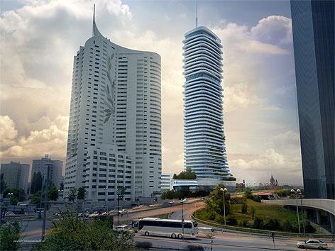 Seidler Tower und Danube Flats