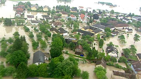 Hochwasser im Eferdinger Becken