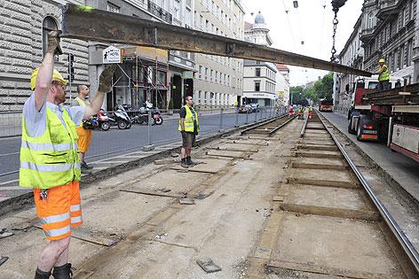 Bauarbeiten Straßenbahn