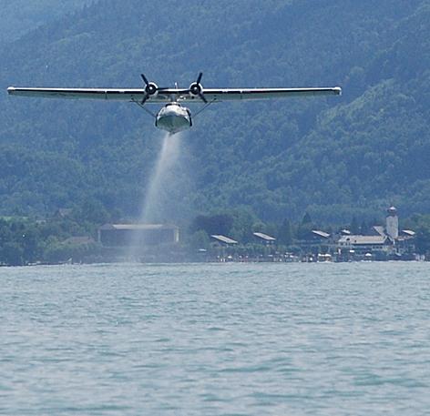 Scalaria Flugboot und Wasserflugzeug Festival auf dem Wolfgangsee bei St. Wolfgang Flugzeug Flieger