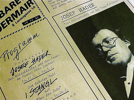 Programmfolder 1985 - mit Josef Hader