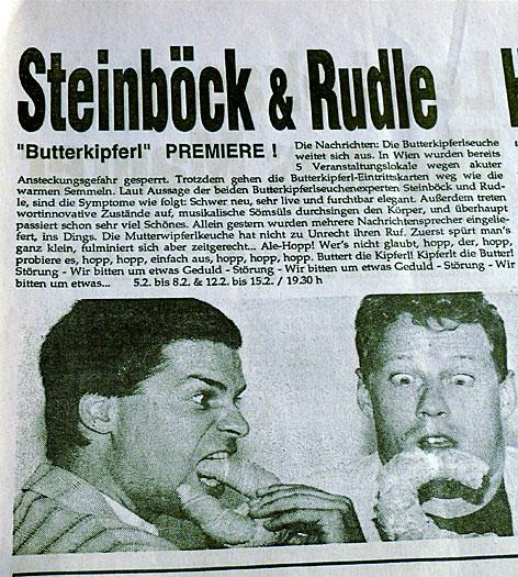 Programmfolder 1993 - mit Steinböck & Rudle