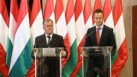 Hans Niessl und Peter Szijjarto