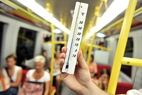 Thermometer in der U-Bahn