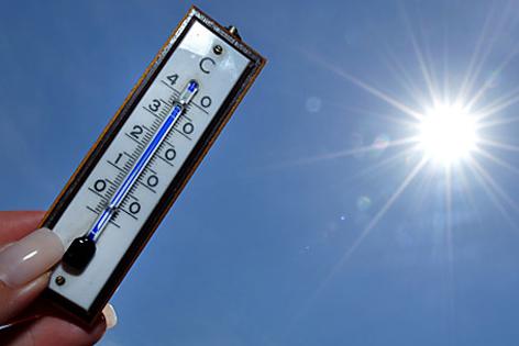Außenthermometer und Sonne