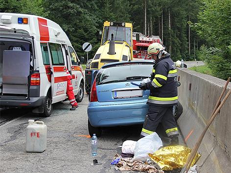 Unfall mit Straßenwalze